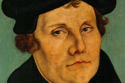 Martin Luther, détail du tableau de Cranach l'ancien peint en 1529