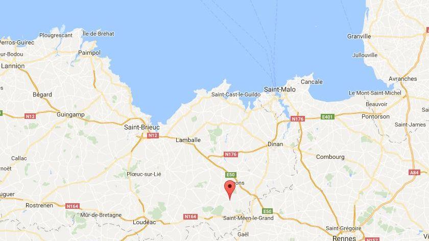 L'accident a eu lieu à Lanrelas dans les Côtes d'Armor