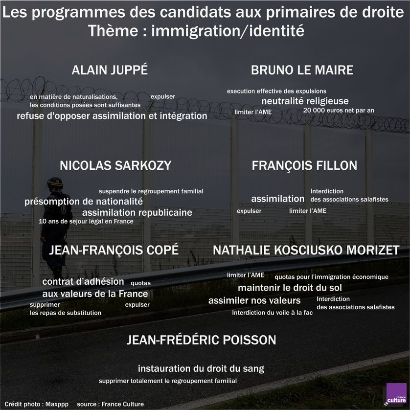 Les programmes des candidats aux primaires de droite