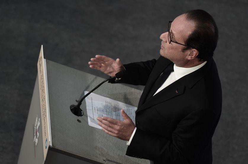 François Hollande le 17 octobre 2016 à Florange