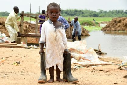 Des milliers de communauté Wawa dans l'Etat d'Ogun, sud-ouest du Nigeria ont été rendus sans-abri par des inondations. Le 5/10/2016