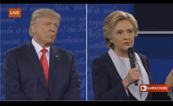 capture d'écran /Second débat de la présidentielle américaine