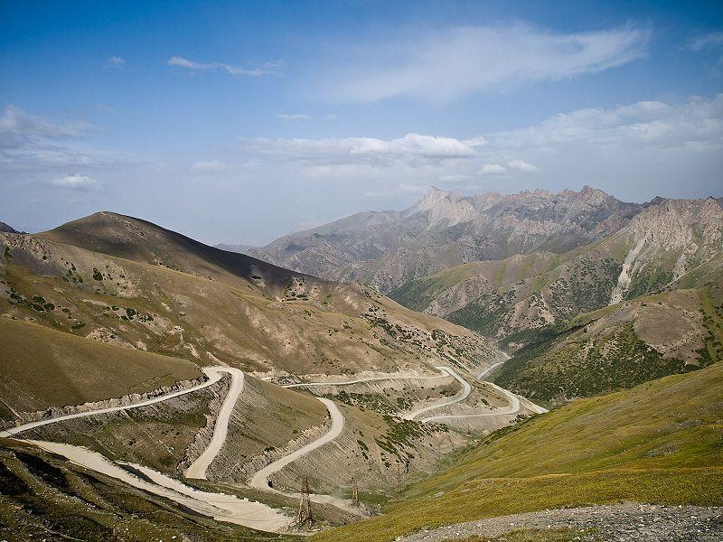Taldyk Pass, Kirgisistan, Route de la soie