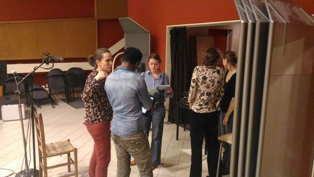 Equipe de la fiction Laurence Courtois et les acteurs