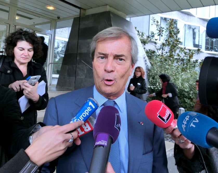 Vincent Bolloré à sa sortie du CSA le 24 septembre 2015