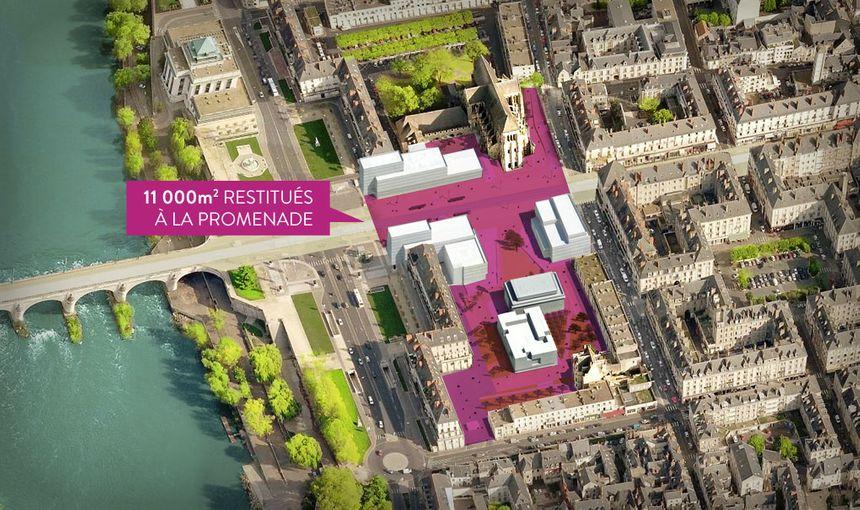 Les espaces publics dans le projet de réaménagement du haut de la rue Nationale