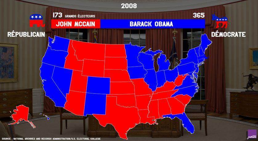 Résultat de l'élection présidentielle de 2008