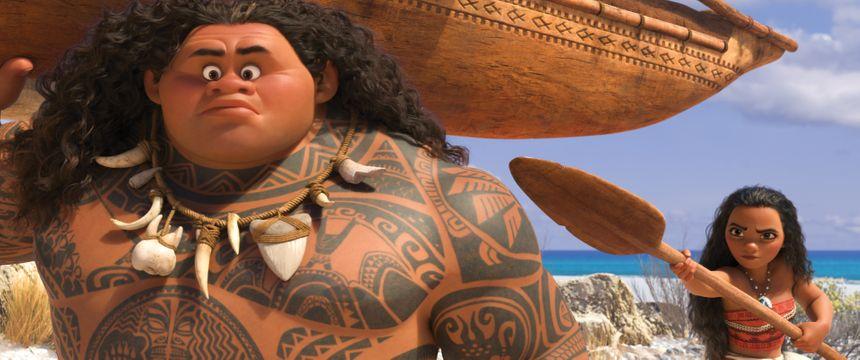 Maui et Vaiana doivent rendre son cœur à la déesse de la nature