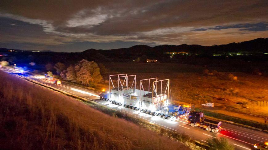 Convoi ITER à la Roque d'Anthéron