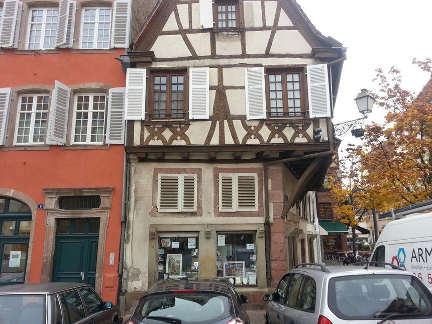 Les façades d'immeubles du centre historique de Sélestat