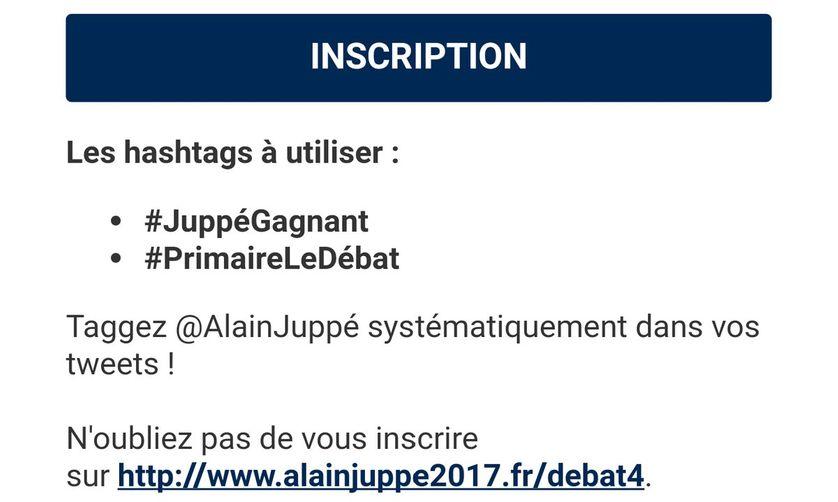 Les consignes de l'équipe web d'Alain Juppé à ses soutiens sur Twitter