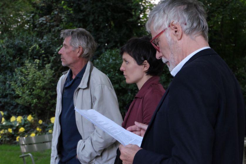 """Enregistrement de """"Red Line"""" dans le jardi du Luxembourg"""
