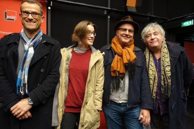 Sylvain Delfau, Fanny Catté, Mehdi Ahoudig et Jean-Yves Lafesse