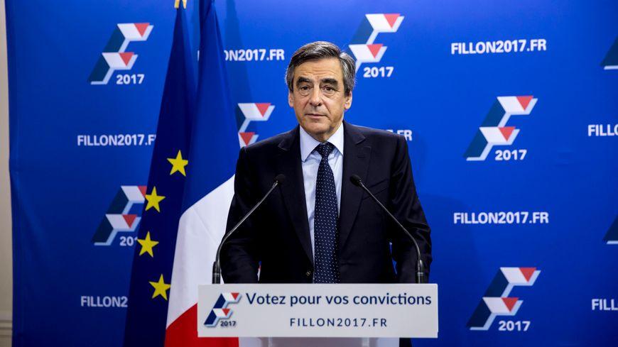 François Fillon depuis son siège de campagne