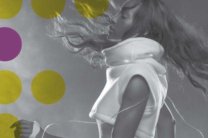 """Extrait de l'affiche de l'exposition """"Futurotextile"""" - Photo SENSOREE - KRISTIN NEIDLINGER Mood Sweater 2010"""