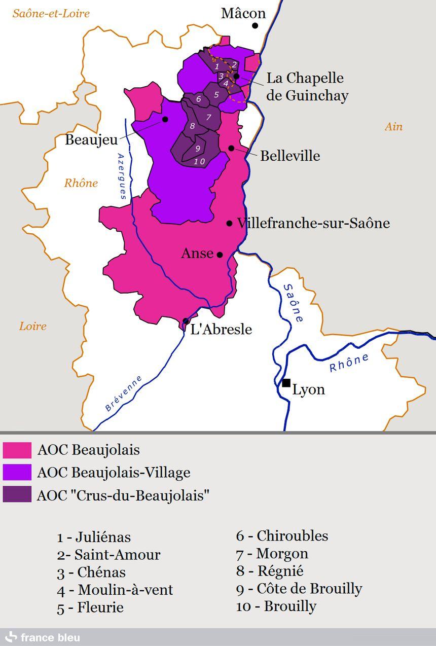 Les appellations du Beaujolais