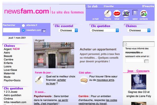 Newsfam, en 2001.