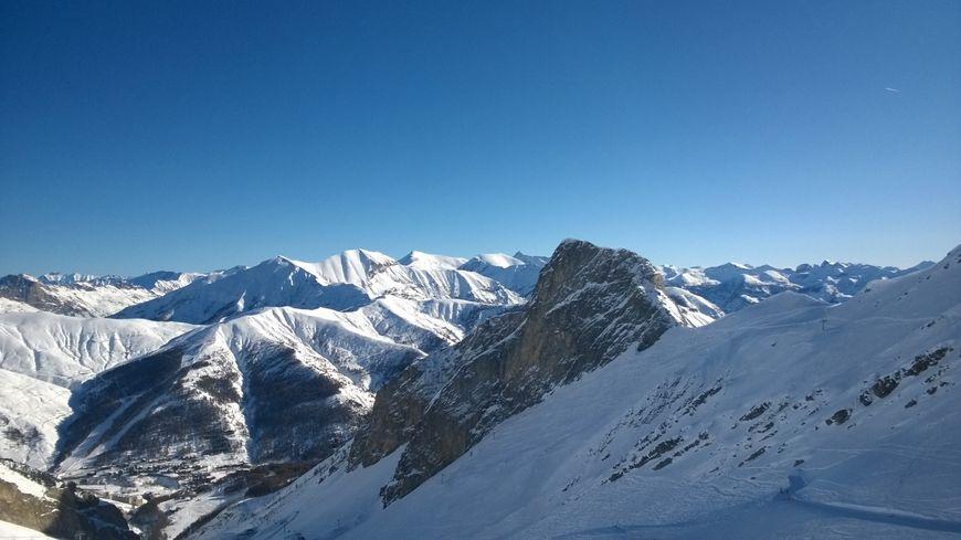 Les pistes du Val d'Allos.