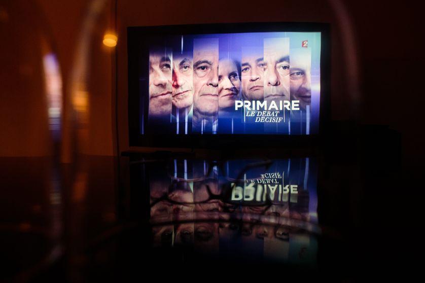 Capture d'écran du troisième débat de la primaire à droite sur France 2