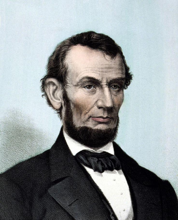 Portrait d'Abraham Lincoln, 16ème président des Etats - Unis