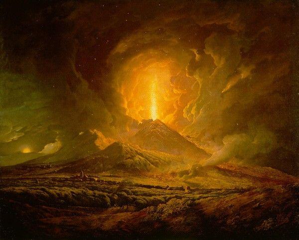 Joseph Wright of Derby, Éruption du Vésuve vue depuis Portici,