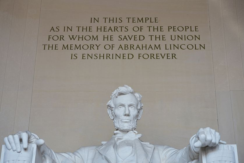 La statue d'Abraham Lincoln au Lincoln Memorial de Washington