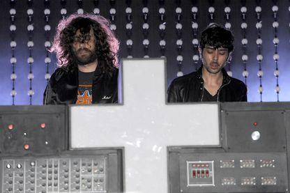 Gaspard Augé et Xavier De Rosnay de Justice pendant le Festival Ultra Music 14 à Bayfront Park le 24 mars 2012 à Miami, en Floride