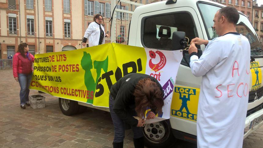 Très mobilisée à Toulouse, la fonction publique hospitalière.