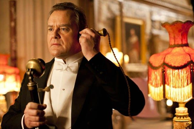 Lord Grantham au téléphone
