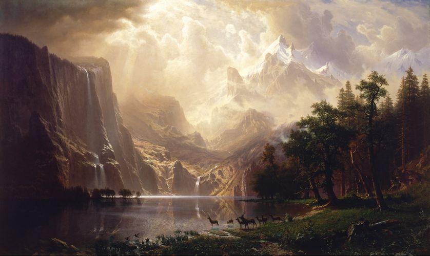 Albert Bierstadt, Montagnes de la Sierra Nevada
