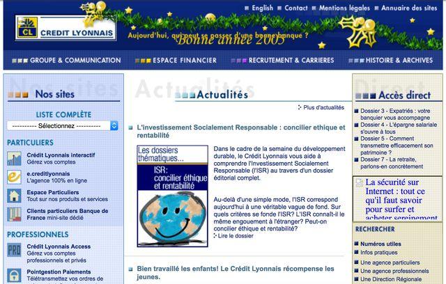 Le Crédit Lyonnais, en 2005