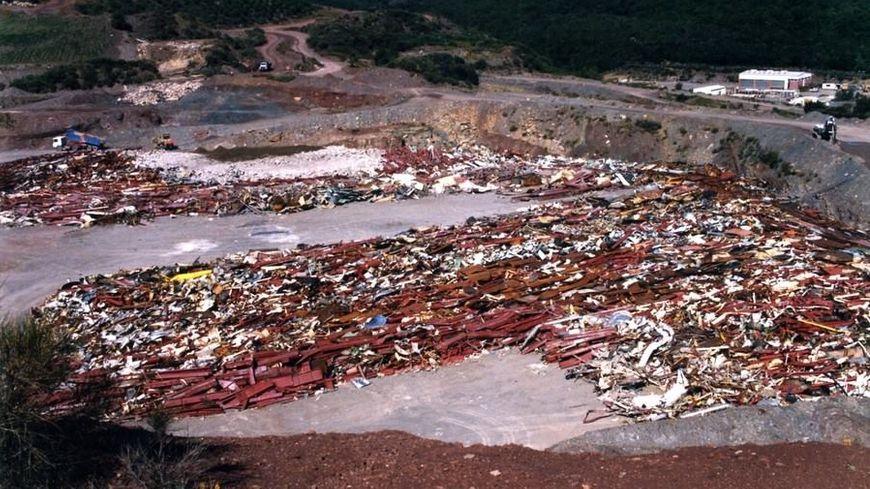 Le site de la Cogema à Lodève après le démantèlement