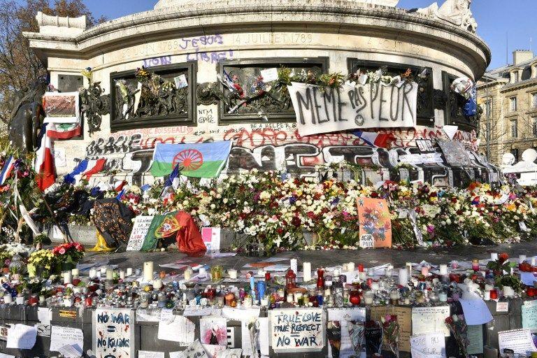 Paris, le 23/11/15 : Hommage aux attentats du vendredi 13 Novembre 2015, Place de la République, Paris