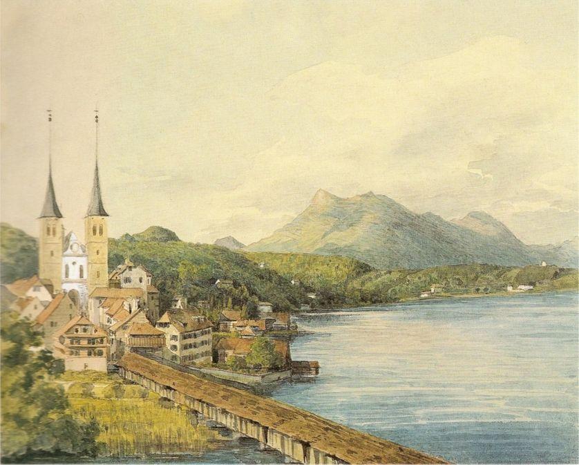 Une vue de Lucerne par Felix Mendelssohn