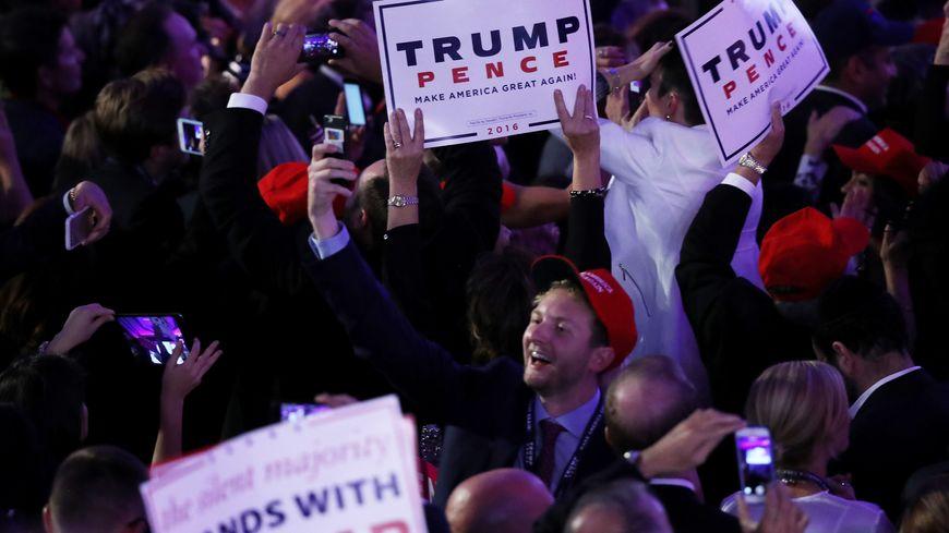 Les supporters de Donald Trump exultent.