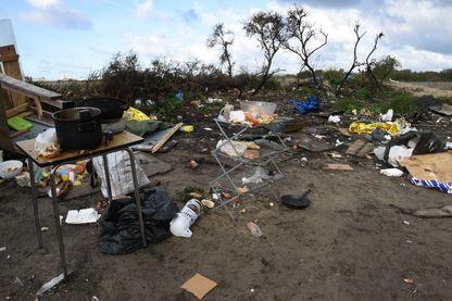 La jungle de Calais après le départ des migrants