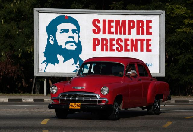 Aujourd'hui encore, on trouve des portraits de Che Guevara un partout à Cuba. Ici, un exemple à La Havane