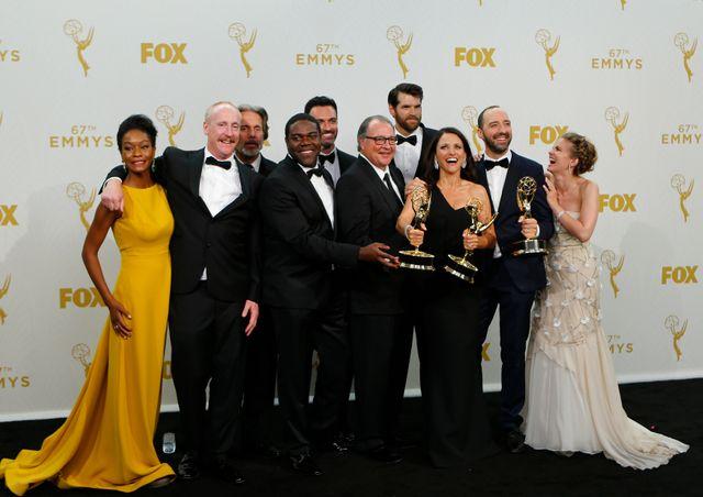USA 2016 : l'équipe de Veep à la cérémonie des Emmy Awards 2015