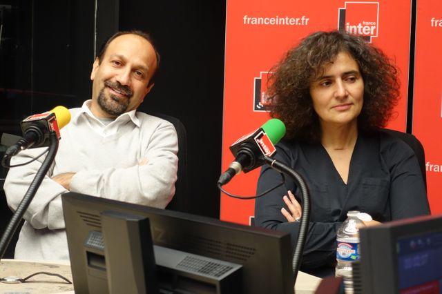 Asghar Farhadi et sa traductrice Massoumeh Lahidji