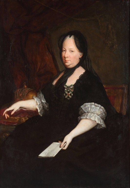 Portrait de Marie Thérèse de Habsbourg (1717-1780), Peinture de Anton von Maron (1733-1808), 1772 - Ptuj Ormo Regional Museum