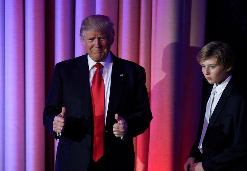 Donald Trump au New York Hilton Midtown à New York, lors de sa première allocution suite à l'annonce des résultats des présidentielles
