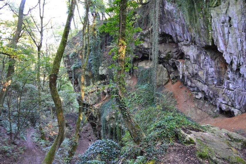 Environs des Grottes Schmerling, lieu de découverte des premiers restes néandertaliens, découvert en 1830 par Philippe-Charles