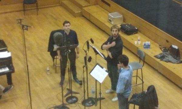 les trois jeunes chanteurs dans l'Alla Breve d'Isabelle Fraisse
