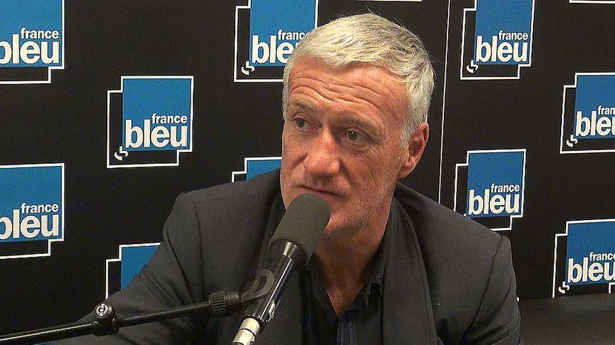 Didier Deschamps, le sélectionneur de l'équipe de France de football, inivté de Stade Bleu