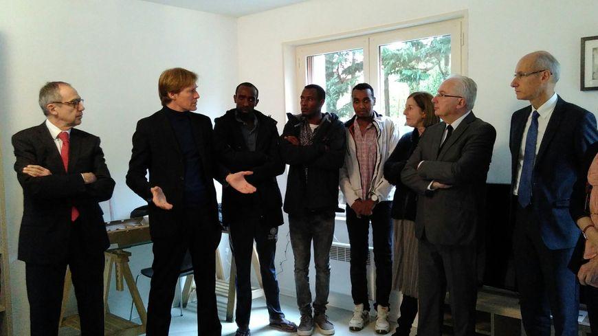Le directeur de l'OFPRA, Pascal Brice, a rendu visite aux demandeurs d'asile du CAO d'Aire-sur-l'Adour