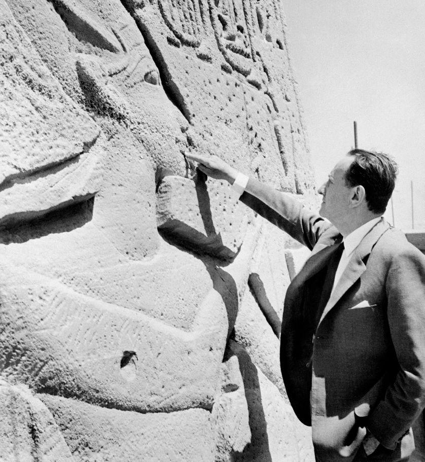 André Malraux en visite en Egypte en mars 1966.
