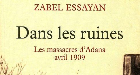 """Couverture du livre """"Dans les ruines"""" de Zabel Essayan (détail)"""