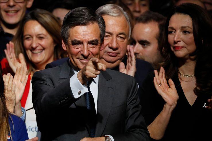 François Fillon en meeting à Paris le 25 novembre 2016