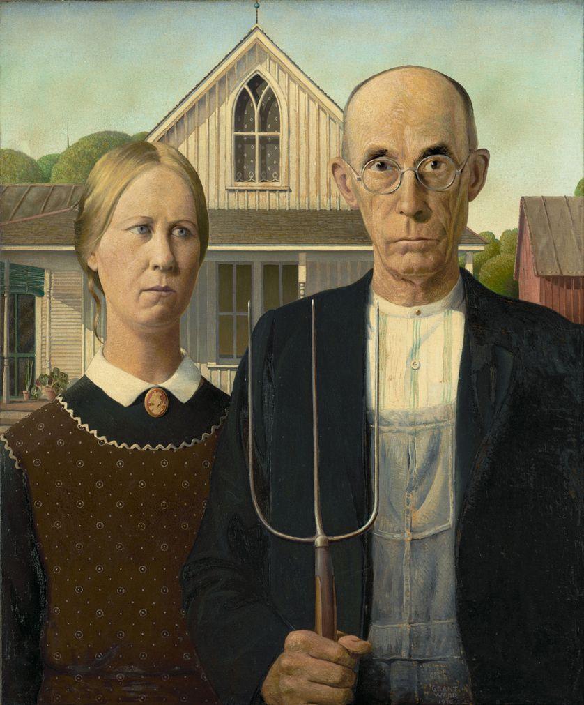 "Grant Wood (1891-1942), ""American Gothic"", 1930"