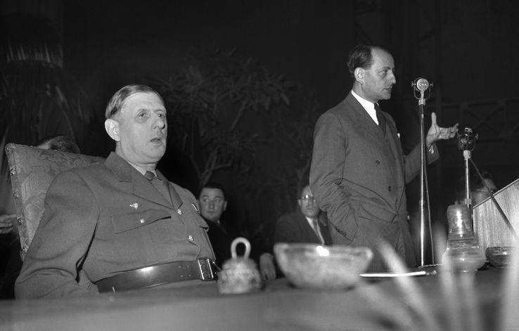 Charles De Gaulle et André Malraux le 18 avril 1948.